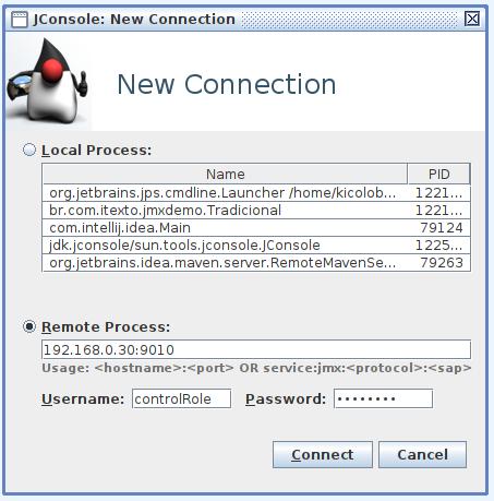 conexão com credenciais